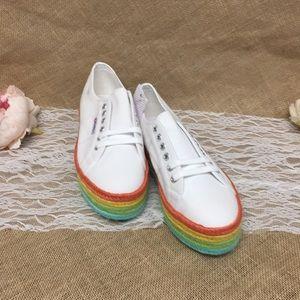 Superga Cotcoloropew Espadrille Sneaker White
